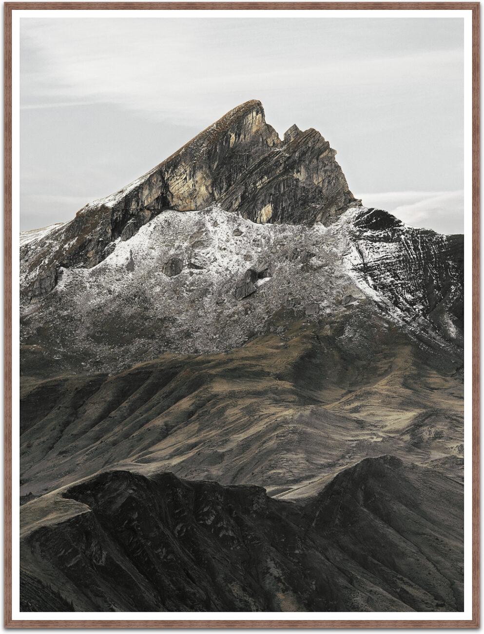 Grossformat-Foto Schwabhorn, Berg in den schweizer Bergen, Kunstfotografie-Serie Elemente 4